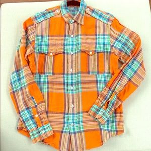 SALE🎈POLO Ralph Lauren Linen Plaid Button Down